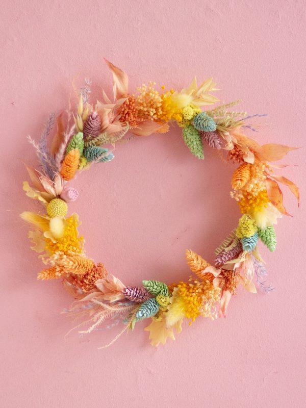 "Corona Pride or die ""Pale"" con flor preservada arcoiris | Loreak"